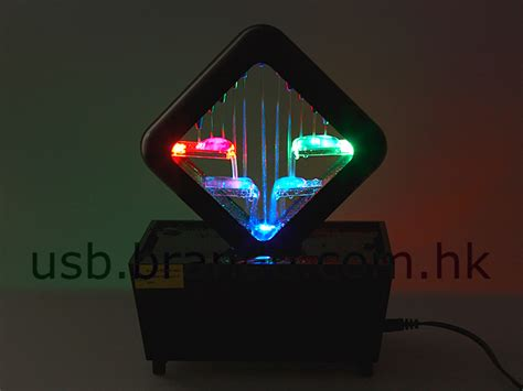 Usb Portable Led Desk L Humidifier 3 Level Brightnes T19 2 usb illuminated led waterfall plates