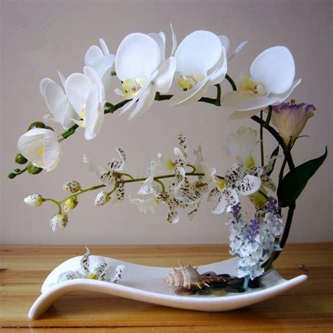 Pot Anggrek Unik itemship rangkaian bunga buatan segar yang unik seni