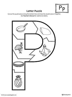 printable alphabet letter puzzles letter p puzzle printable myteachingstation com