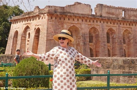 is she okay hillary clinton slips down the stairs while hillary clinton slips twice on stairs during trip to india