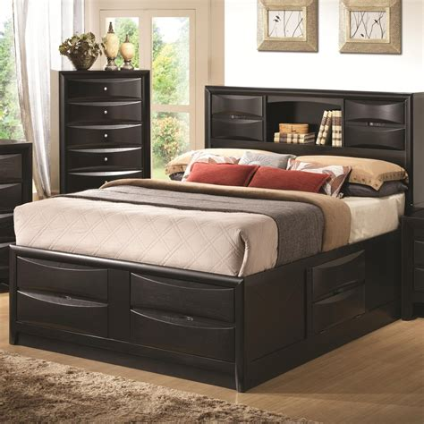black queen size bed coaster 202701q black queen size wood bed steal a sofa