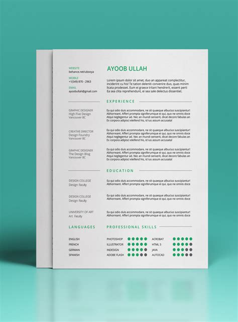 Free Pretty Resume Templates 30 Free Beautiful Resume Templates To Download Hongkiat