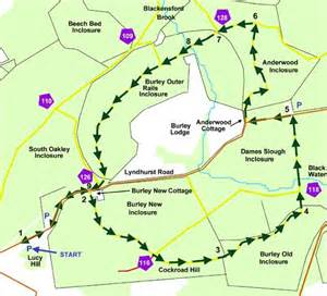 new forest car parks map new forest cycle ride burley