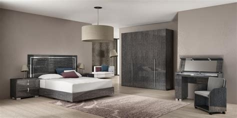 trendy liquido gloss bedroom set bed for mirrored bedroom venicia modern wardrobe in grey birch look finish with