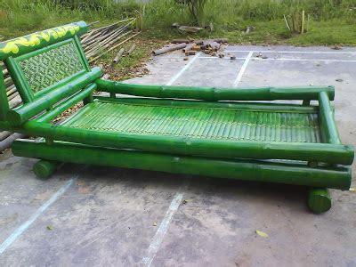 Kursi Tidur Bambu kursi bambu eki aneka perabot bambu
