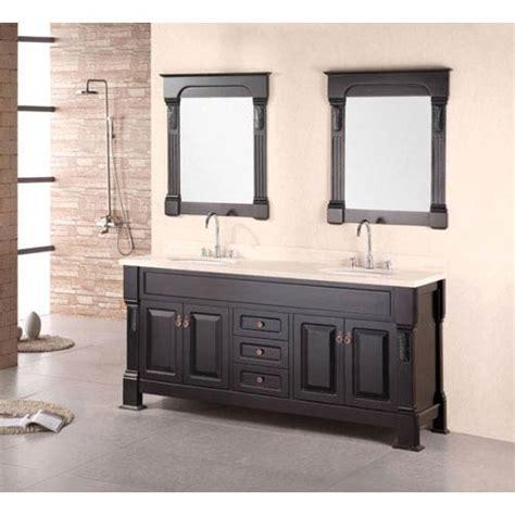 andover espresso 72 inch sink vanity set