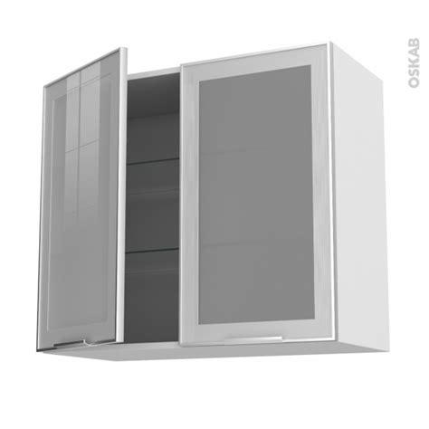 meuble cuisine haut porte vitr馥 meuble de cuisine haut ouvrant vitr 233 fa 231 ade alu 2 portes