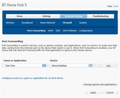 windows port forward bt home hub 5 port forwarding guide ksl technical