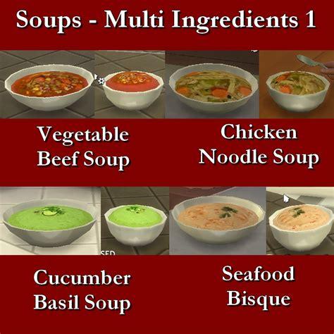 Custom Food mod the sims custom food soups multi ingredient 1