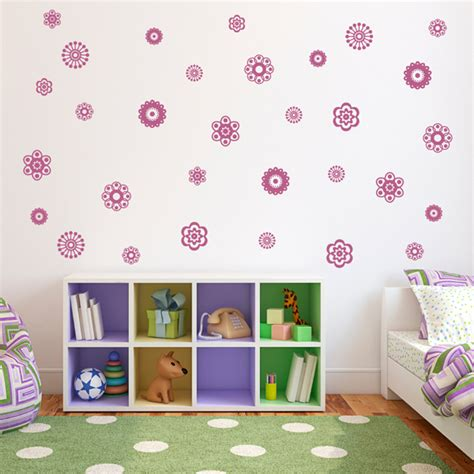 flower wall decals room