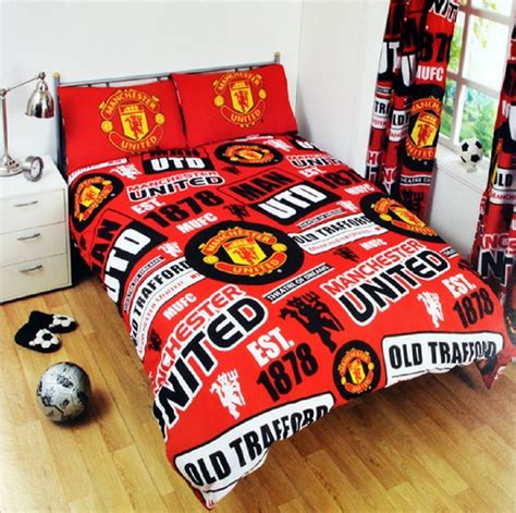 new manchester united double football duvet quilt cover