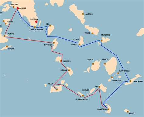 sailing greece routes route die kykladen ii sail greece yacht charters