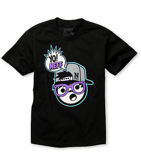 Tshirt Neff Card neff boys yo neff black t shirt