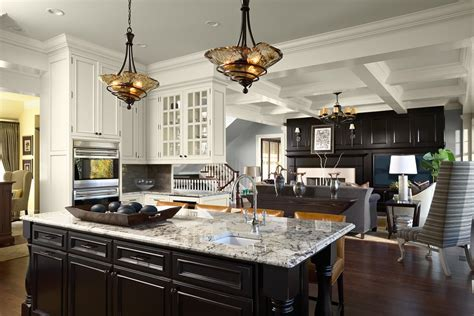 Glorious Gray Granite Countertop Kitchen with Ceiling