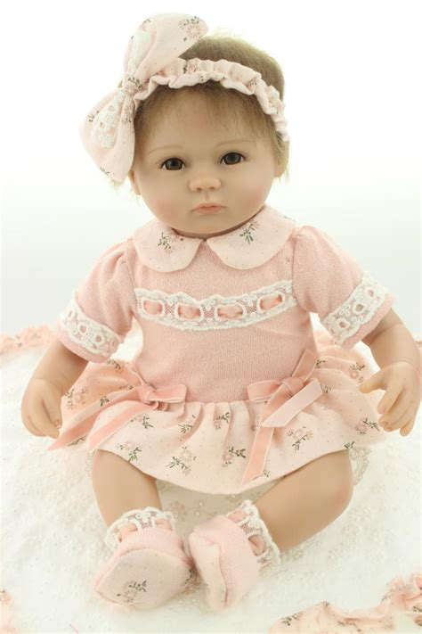 Handmade Baby Doll - reborn baby doll soft silicone 18 inch handmade baby