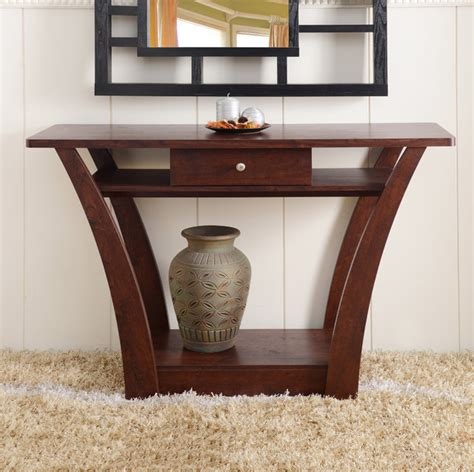 furniture of america magnolia modern 1 drawer walnut