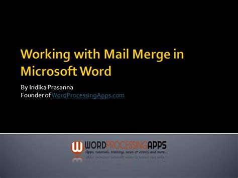 thank you card template to embed in email working with mail merge in microsoft word authorstream