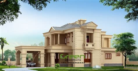 2500 sq ft house plans in kerala colonial style modern house elevation at 2500 sq ft