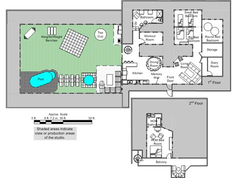floor plan of the big brother house big brother 14 spoilers