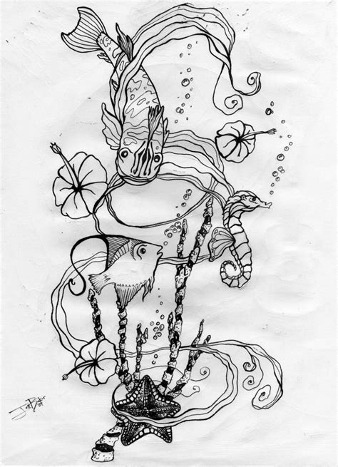 ocean life tattoo designs best design ideas designs by dean leach