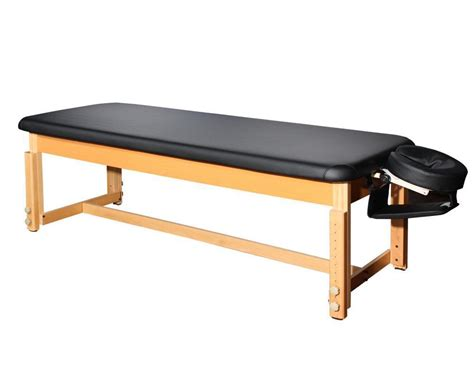 massage bench bestmassage black leather stationary massage table spa