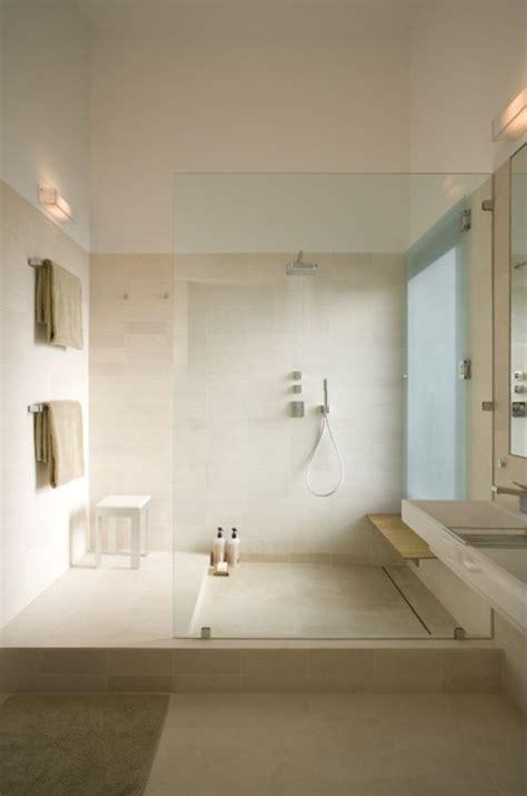 large walk  shower modern garage webber studio