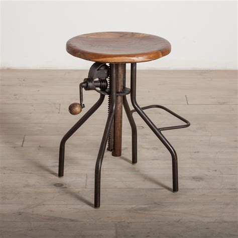 Adjustable Stool by Adjustable Crank Bar Stool Modern Bar Stools And