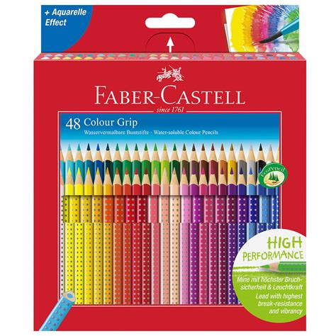 faber castell color pencils faber castell colour grip pencils box of 48 cult pens