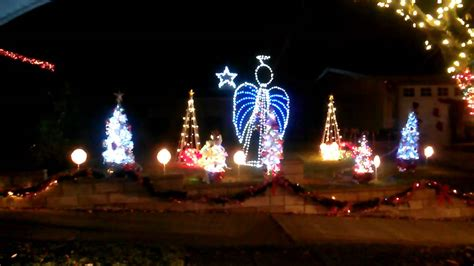 musical christmas light display pasadena ca youtube