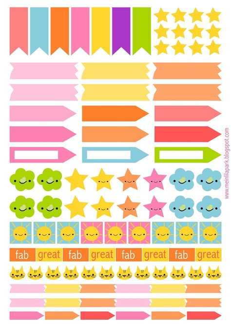 free printable planner labels free printable planner flags and stickers ausdruckbare