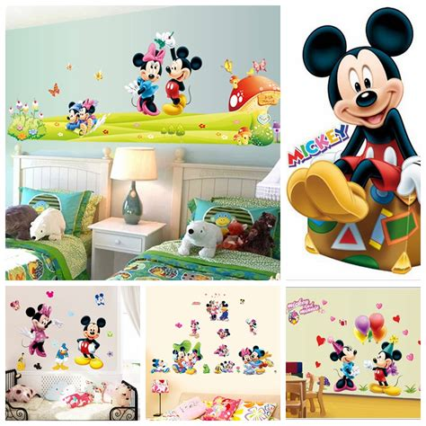 mickey mouse and minnie mouse wall sticker home decor hot mickey mouse minnie mouse wall sticker children room