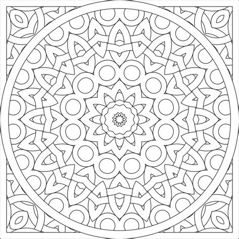 kaleidoscope coloring pages hard coloring pages
