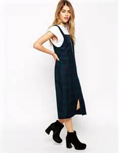 Midi Plaid Pinafore Dress 11 pichis como alternativa al peto esta primavera verano 2015