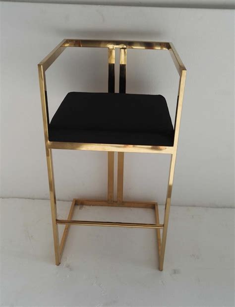 Gold Leather Bar Stools by S S Bar Stool In Gold Plating Buy Stainless Steel