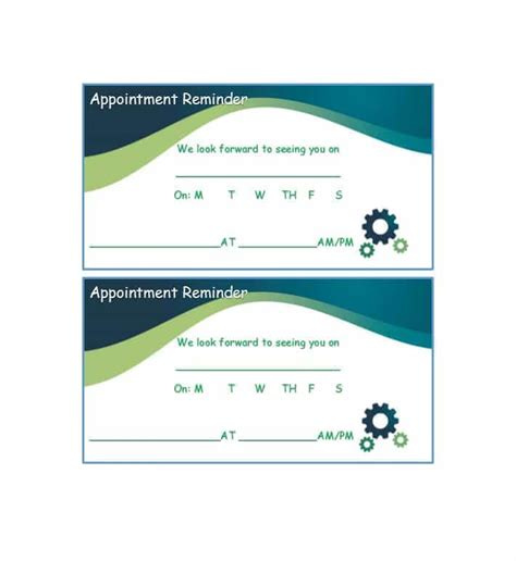 appointment card 40 appointment cards templates appointment reminders