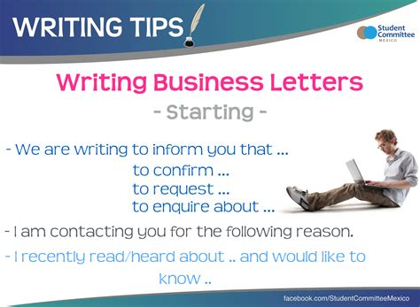 business letters writing tips business letters writing tips language esl