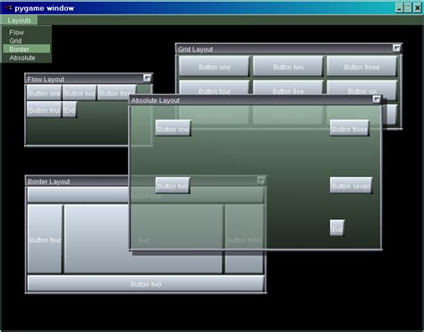 layout manager window layout manager