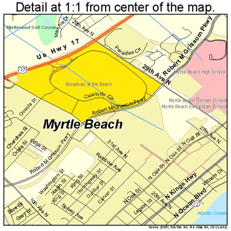 south myrtle beach sc map myrtle beach south carolina street map 4549075