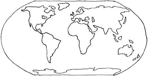 world map coloring pages 4