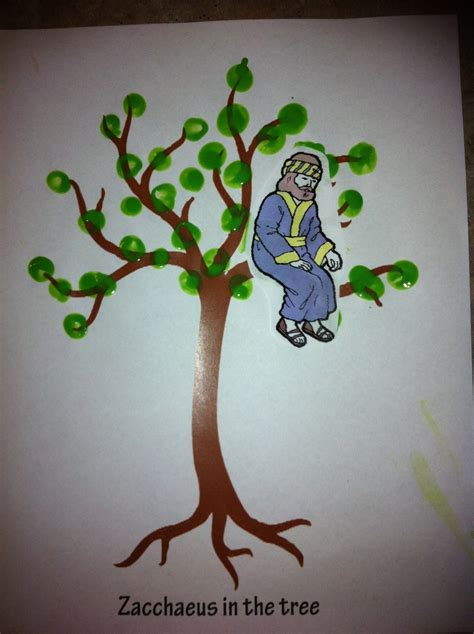 Thanksgiving Craft Ideas Planting Tree Coloring Page - zacchaeus in the tree craft printed bare tree and