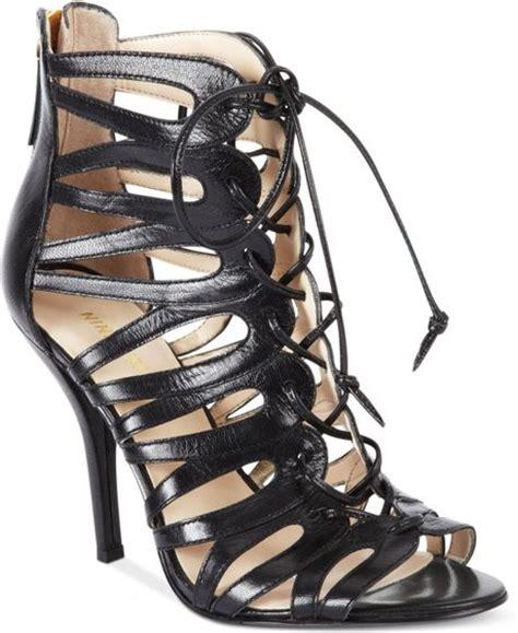 gladiator sandals nine west nine west kenie gladiator sandals in black lyst
