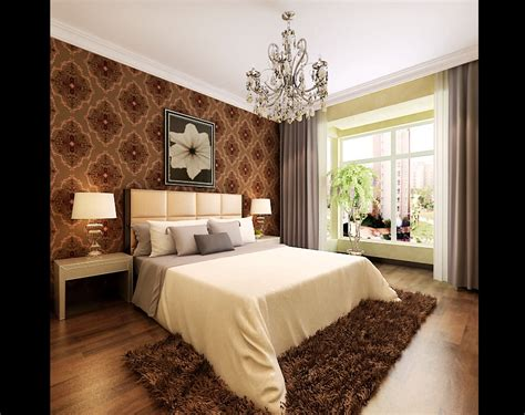 bedroom with brown carpet modern bedroom with brown fur carpet 3d model max