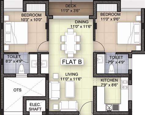 white rose floor plan 1112 sq ft 2 bhk 2t apartment for sale in bhoomi and
