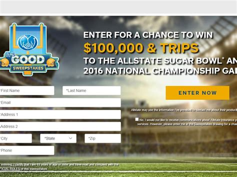 Good Sweepstakes - the allstate it s good sweepstakes