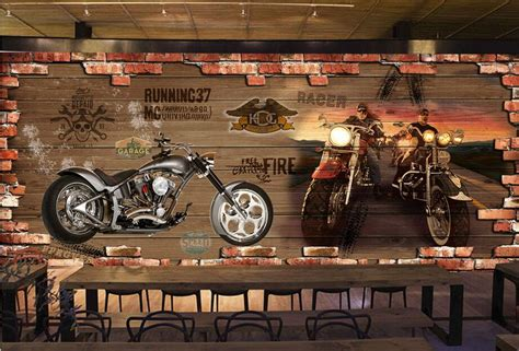motorcycle wall murals aliexpress buy beibehang custom photo wallpaper wall