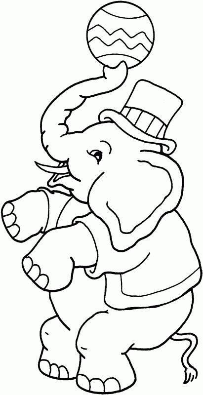 coloring page circus elephant free circus elephant coloring page crafts pinterest