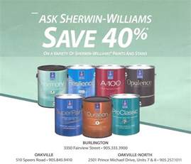 sherwin williams paints sherwin williams save 40 off on a variety of paints and