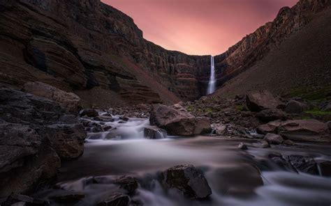 iceland waterfall hd wallpapers 4k wallpaper hengifoss waterfall iceland waterfalls hd