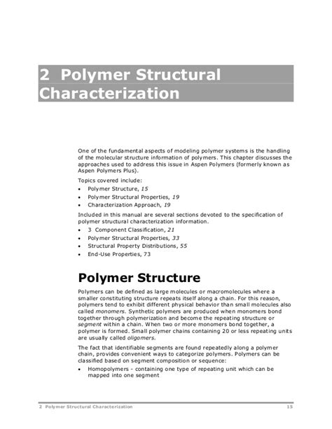 Polymer Morphology Principles Characterization And Processing aspen polymersunitopsv8 2 usr