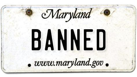 about 5 000 vanity license plates are banned in maryland